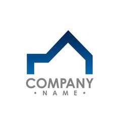 realty logo design concept and idea vector image