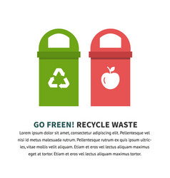 Recycle waste bins vector