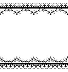 Retro lace pattern greeting card wedding vector