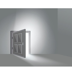 Room Door Open vector image
