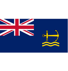 Royal maritime auxiliary ensign vector