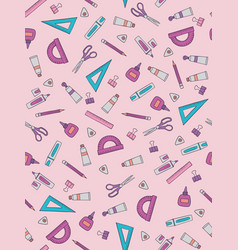 school pattern design vector image