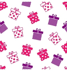 Seamless background with gift boxes vector