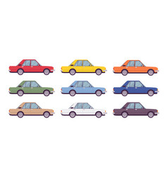 sedan set in bright colors vector image