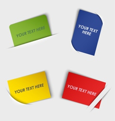 Set of colorful rectangular labels in your pocket vector image