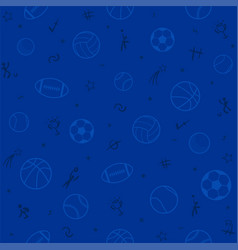 sport theme seamless pattern background football vector image