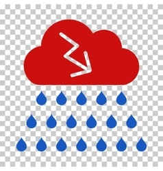 Thunderstorm Rain Cloud Icon vector