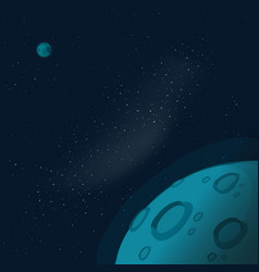 Universe or outer space with copy space for text vector