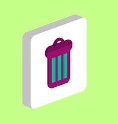 utilize rubbish bin computer symbol vector image