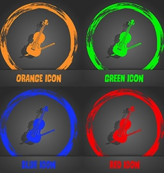 Violin icon Fashionable modern style In the orange vector image