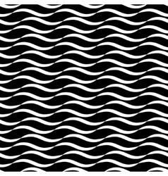 Wavy line black seamless pattern vector