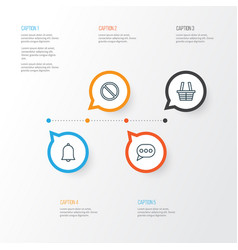 Web icons set collection of shop obstacle vector
