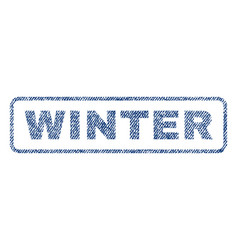 Winter textile stamp vector