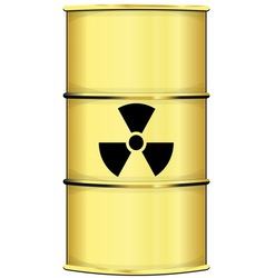Barrel with radiation sign vector image