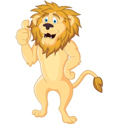 cute lion cartoon isolated vector image vector image