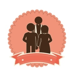 Just married couple card vector