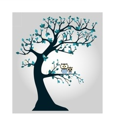Tree with branches and owl vector image vector image