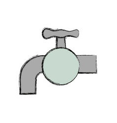 water faucet isolated vector image