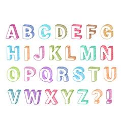 Alphabet set 3d form vector image