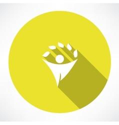 eco men icons vector image