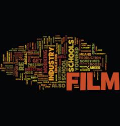 Film schools how to choose a winner text vector
