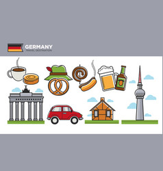 german travel destination promotional poster with vector image vector image