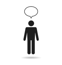 man icon with speech bubble vector image