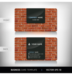 Red Brick Wall Business Card vector image vector image