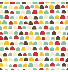 Seamless abstract texture with funny elements vector image