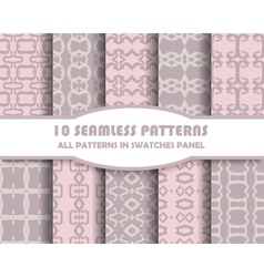 set of geometric seamless patterns for vector image
