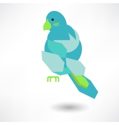 Stylish Abstract Bird Of Leaves Icon vector image vector image