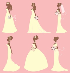 Brides different styles vector image vector image