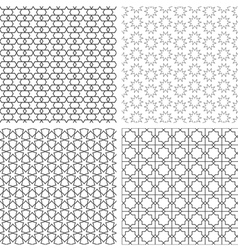 Four delicate seamless patterns in arabian style vector image vector image