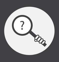 hand holding a magnifying glass with a question vector image vector image