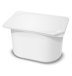 Plastic Container vector image