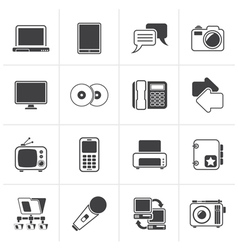 Black Communication and connection technology vector image