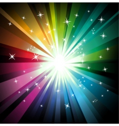 explosion of colorful lights vector image vector image
