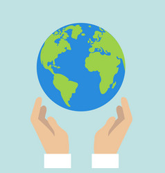 flat design colored of globe vector image