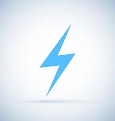 lightning icon Isolated on white background vector image