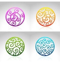 Ornamental Circles vector image
