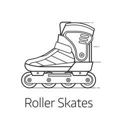 roller skates icon vector image vector image