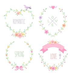 Romantic frames vector