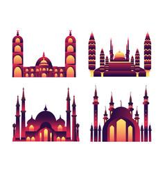 a mosque collection set mosque vector image