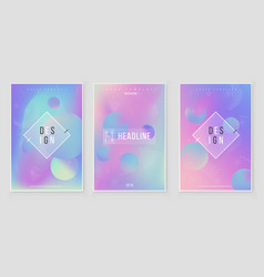 Abstract blurred holographic gradient background vector
