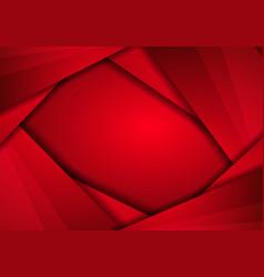 Abstract metallic red frame layout modern tech vector
