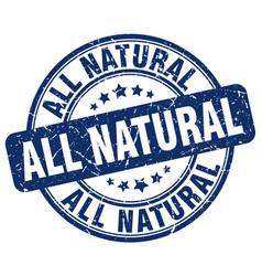 All natural blue grunge stamp vector