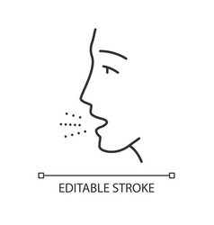 Allergy symptom linear icon vector