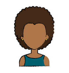 beautiful black woman avatar character vector image