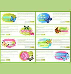 Best spring big sale label on web poster with text vector