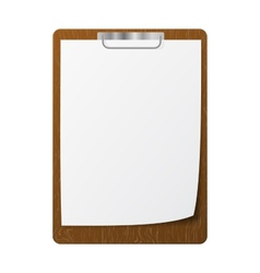 Blank white page clip vector image